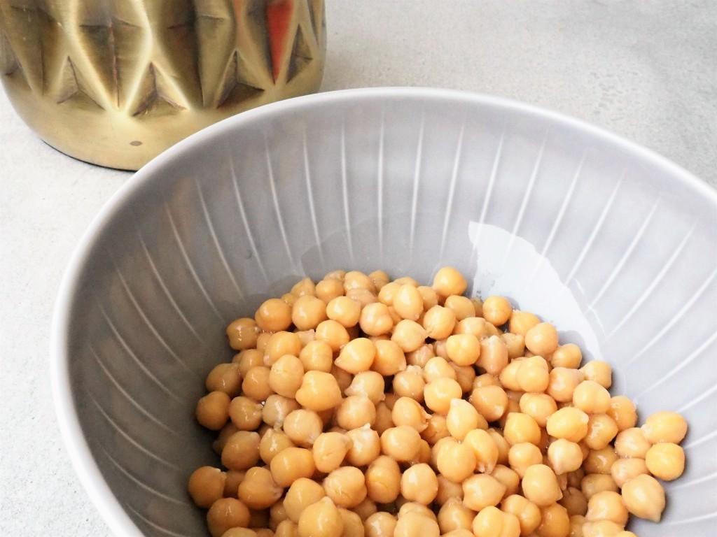 Kichererbsen: Proteine drin, als Hummus lecker